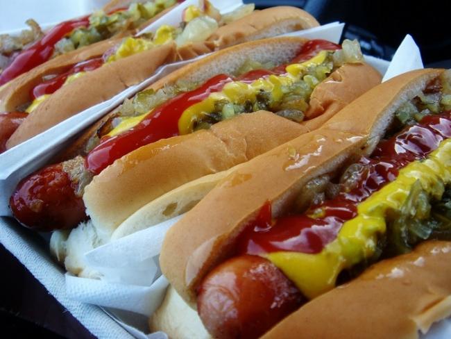 Hot dog acasa